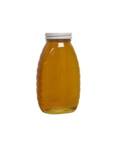 1 lb honey jar 247x296 - 1 lb. Glass Jar- Case of 12