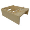 FAJD 1 100x100 - Shallow Frame, Unassembled, Wedged Top Bar, Grooved Bottom Bar, Commercial