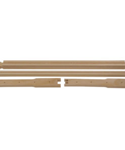 frame parts 1 247x296 - Unassembled Shallow Frames with Grooved Top Bar and Grooved Bottom Bar