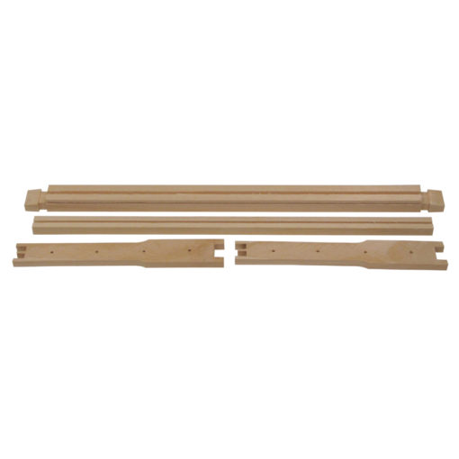 frame parts 1 510x510 - Shallow Frame, Unassembled, Wedged Top Bar, Grooved Bottom Bar, Commercial