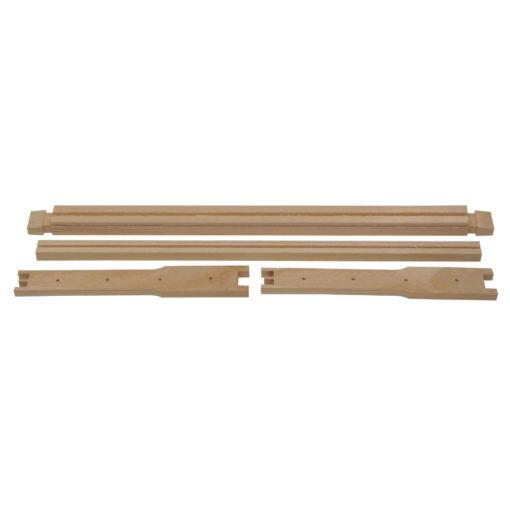frame parts 1 510x510 - Shallow Frame, Unassembled, Wedged Top Bar, Split Bottom Bar, Commercial