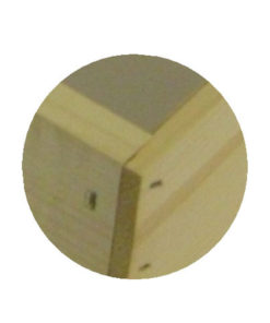 rabbet up close 247x296 - Deep Hive Body, Rabbet-jointed, Unassembled, Commercial, 5-Frame