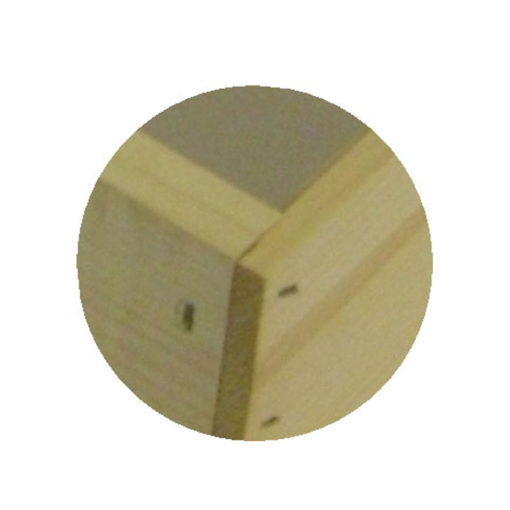 rabbet up close 510x510 - Commercial Unassembled 5-frame Rabbeted Deep Hive Body