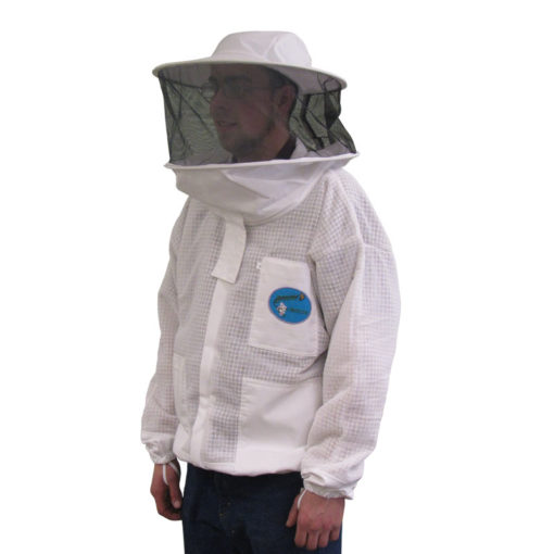 vented jacket round hood 510x510 - Protector Ventilated Bee Jacket - Fencing Hood