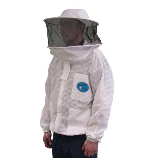 vented jacket round hood 510x510 - Protector Ventilated Bee Jacket - Round Hood