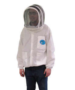 ventilated jacket fencing hood 247x296 - Protector Ventilated Bee Jacket - Round Hood